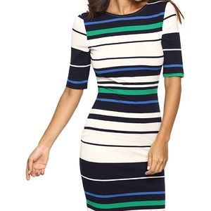Striped Colorblock Sheath